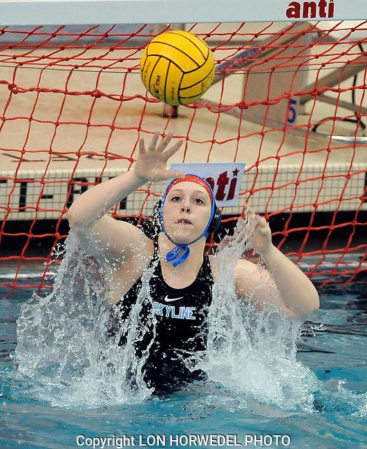 Skyline High School girl's water polo vs. Pioneer High School at Skyline. 5/7/14