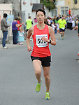 Kana Akimoto was the 3rd lady home in the Clogherhead 10k run. Photo: Colin Bell/pressphotos.ie
