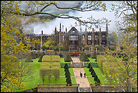 Bmth News (01202 558833)<br /> Pic:  GrahamHunt/BNPS<br /> <br /> Historic Grade 1 listed Tudor Manor destroyed by fire last night.<br /> <br /> Parnham House near Beaminster in Dorset has been destroyed by a fire that started in the early hours of this morning.