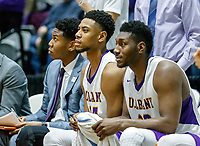 University at Albany men's basketball defeats Maine at the  SEFCU Arena, Feb. 24, 2018.  Alex Foster and Travis Charles. (Bruce Dudek / Eclipse Sportswire)