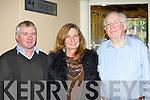 John McCarthy, Mary Breahimi and Ronald Byrne Abbeyfeale enjoying the TR Dallas concert in the Gleneagle Hotel on Saturday night..