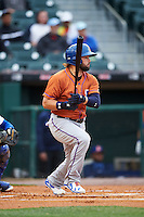 Durham Bulls right fielder Jaff Decker (4) at bat during a game against the Buffalo Bisons on June 13, 2016 at Coca-Cola Field in Buffalo, New York.  Durham defeated Buffalo 5-0.  (Mike Janes/Four Seam Images)