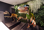 "March 15, 2017, Urayasu, Japan - Dinosaur robots greet guests at a reception of the newly opened ""Henn na Hotel"" (Strange hotel) near Tokyo Disney Resort in Urayasu, suburban Tokyo on Wednesday, March 15, 2017. Japan's travel agency H.I.S runs the Henn na Hotel which has only seven human employees while nine types 140 robot staffs work at the 100-room six-storey hotel.    (Photo by Yoshio Tsunoda/AFLO) LwX -ytd-"