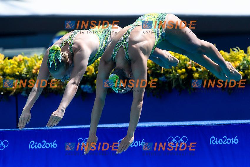 CAN - Canada  <br /> SIMONEAU Jacqueline THOMAS Karine<br /> Duets Technical Routine <br /> Rio de Janeiro 15-08-2016 Maria Lenka Aquatics Center  <br /> Synchronised Swimming <br /> Nuoto Sincronizzato <br /> Foto Andrea Staccioli / Deepbluemedia /Insidefoto