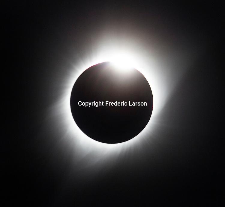 Total solar eclipse seen from Casper Wy. Total solar eclipse of the sun as seen from Casper Wy.