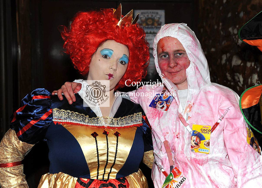 Lisa McGough and Lorraaine O'Sullivan  at the 'Lane of Scares'  annual Halloween Bash at The Ross Lane Bar and Courtneys Bar, Killarney on Friday night. Picture: Eamonn Keogh (MacMonagle, Killarney)