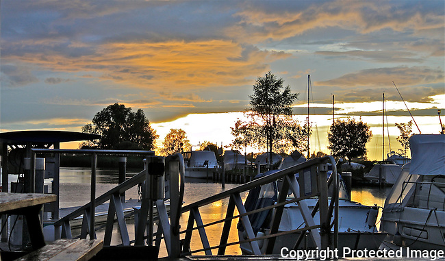 Yachts on Lake Constance Austria at sunset tranquil lifestyle luxury N A Ebden photo