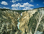 Yellowstone River and Falls in Yellowstone Canyon, Wyoming, USA. John offers private photo tours in Grand Teton National Park and throughout Wyoming and Colorado. Year-round.