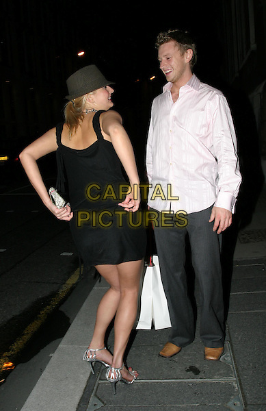NUSH (BIG BROTHER).FHM 100 Sexiest Women Party, Guildhall, .London,.3rd June 2004..full length full-length little black dress silver shoes clutch bag trilby hat.www.capitalpictures.com.sales@capitalpictures.com.©Capital Pictures