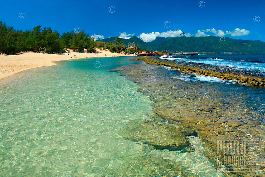 Turquoise blue water at Baby beach on the North Shore of Maui.