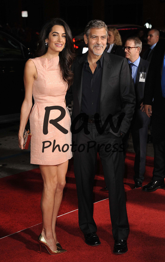 Oct. 26, 2015 - Hollywood, California, U.S. - Amal Alamuddin Clooney, George Clooney attending the Los Angeles Premiere of ''Our Brand Is Crisis'' held at the TCL Chinese Theatre in Hollywood, California on October 26, 2015. 2015. Estreno de ''Our Brand Is Crisis'' en el Teatro Chino en Hollywood. Estreno de ''Our Brand Is Crisis'' en el Teatro Chino en Hollywood.