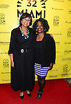 MIAMI BEACH, FL - MARCH 10: Cheryl Boone Isaacs (L), President of the Academy of Motion Picture Arts &amp; Sciences (AMPAS) and  Ruth T. Paul (R) attends a conversation with Miami Film Festival Executive Director Jaie Laplante and Kevin Sharpley at O Cinema Miami Beach of Miami Beach on Tuesday March 10, 2015 in Miami Beach, Florida. <br /> ( Photo by Johnny Louis / jlnphotography.com )