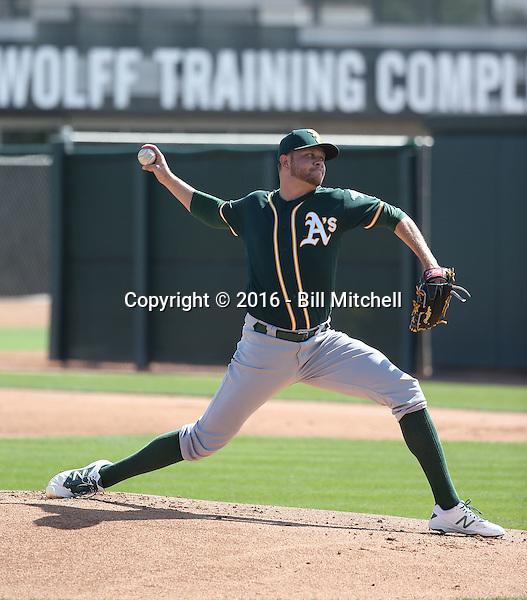Jesse Hahn - Oakland Athletics 2016 spring training (Bill Mitchell)