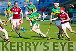 Lixnaws Coilin Sheehy trying to go forward but is well marshalled by Causeways Keith Carmoday and Bryan Murphy in R2 of the Senior Hurling Championship in Austin Stack Park on Sunday.