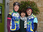 Sandra Fay, Jackie Crinion and Bernie Kelly at the annual kevin King Memorial cycle at the Thatch organised by Drogheda Wheelers cycling Club. Photo:Colin Bell/pressphotos.ie