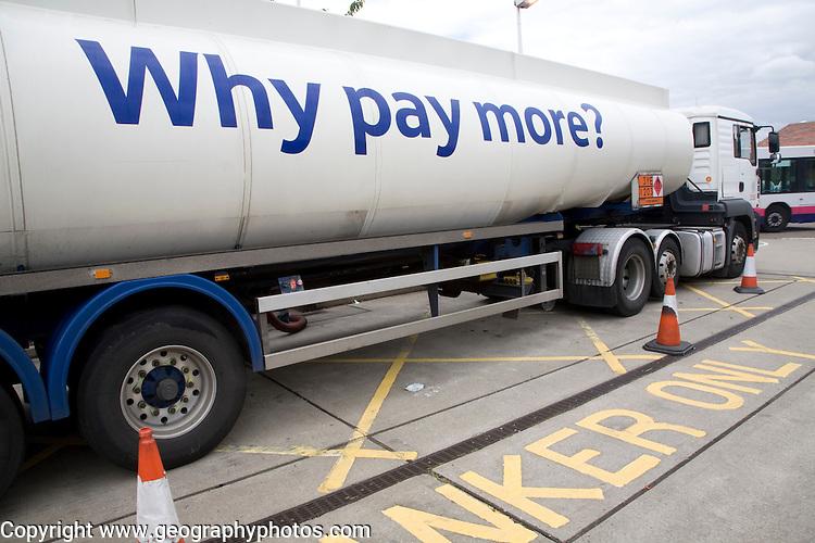 Tesco petrol tanker
