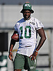 Kenbrell Thompkins #10, New York Jets wide receiver, watches practice during team training camp at Atlantic Health Jets Training Center in Florham Park, NJ on Saturday, Aug. 6, 2016