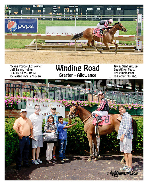 Winding Road winning at Delaware Park on 7/16/14