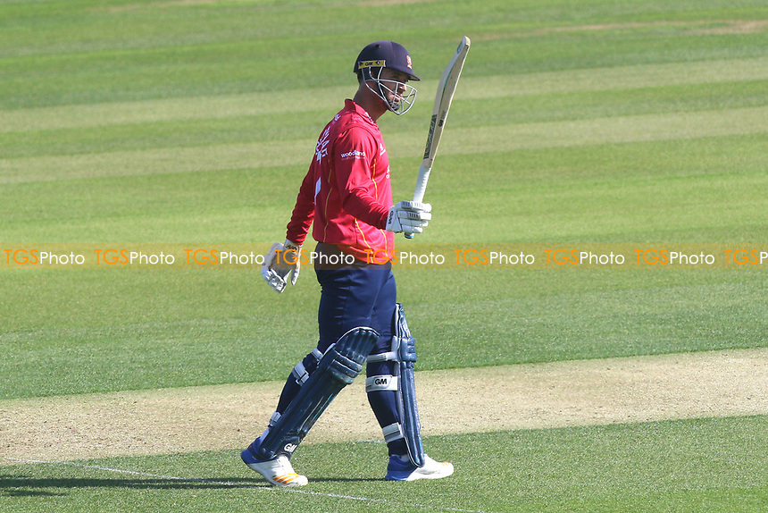 Ryan ten Doeschate of Essex celebrates scoring a half-century, 50 runs during Essex Eagles vs Sussex Sharks, Royal London One-Day Cup Cricket at The Cloudfm County Ground on 10th May 2017