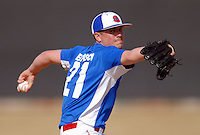 LHP Jack Leathersich of the UMass Lowell River Hawks delivers vs. Southern CT State Owls at Lelacheur Field in Lowell, MA on March 20, 2010 (Photo by Ken Babbitt/Four Seam Images)