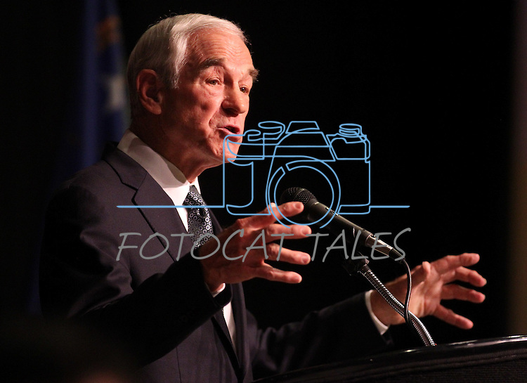 Republican presidential candidate Ron Paul speaks at the Nevada Republican Party Convention in Sparks, Nev., on Saturday, May 5, 2012..Photo by Cathleen Allison