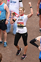 Jenni Falconer<br /> at the finish of the London Marathon 2019, Greenwich, London<br /> <br /> ©Ash Knotek  D3496  28/04/2019