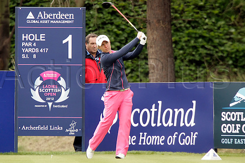 03.05.2012.  East Lothian, Scotland. Sophie Walker (ENG) In action during the Ladies Scottish Open from the Archerfield Fidra Links Course.