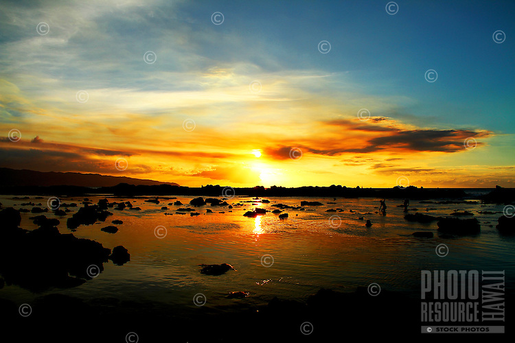 Sunset at Shark's Cove, North Shore, Oahu