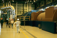 PGE TROJAN NUCLEAR POWER GENERATING PLANT<br /> Turbine generators. High pressure turbine at right.<br /> First decommissioned pressurized water reactor.