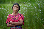 Maria Valentina Lopez listens during a workshop at an eco-agricultural training center in Comitancillo, Guatemala. The center is sponsored by the Maya Mam Association for Investigation and Development (AMMID).