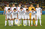 South Korea team group line-up (KOR),<br /> JUNE 17, 2014 - Football / Soccer :<br /> South Korea team group shot (Top row - L to R) Hong Jeong-Ho, Kim Young-Gwon, Ki Sung-Yueng, Park Chu-Young, Jung Sung-Ryong, Son Heung-Min, (Bottom row - L to R) Lee Yong, Koo Ja-Cheol, Han Kook-Young, Yun Suk-Young and Lee Chung-Yong before the FIFA World Cup Brazil 2014 Group H match between Russia 1-1 South Korea at Arena Pantanal in Cuiaba, Brazil. (Photo by SONG Seak-In/AFLO)