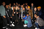 "Natasha Lyonne, Danielle Brooks and Dascha Polanco with the cast and crew backstage after a performance of ""Ain't Too Proud"" at the Imperial Theatre on April 11, 2019 in New York City."