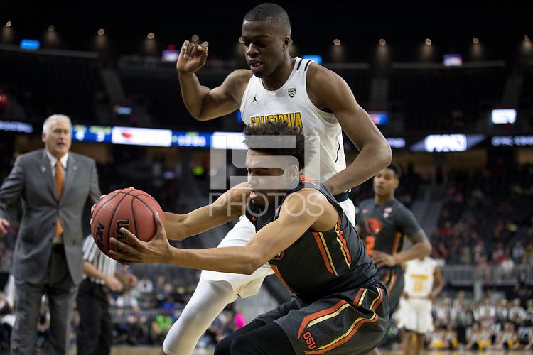 LAS VEGAS, NV - March 8, 2017: Cal Bears Men's Basketball vs. the Oregon State Beavers.  Final Score: Cal Bears 67, Oregon State Beavers 62