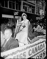 1955 Grey Cup  parade in Vancouver, BC.<br /> <br /> <br /> Photo via Agence Quebec Presse