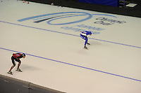 SPEEDSKATING: CALGARY: Olympic Oval, 07-03-2015, ISU World Championships Allround, 3000m Ladies, Claudia Pechstein (GER), Heather Richardson (USA), ©foto Martin de Jong