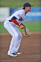Tennessee Smokies third baseman Kris Bryant #17 during a game against Huntsville Stars at Smokies Park on April 25, 2014 in Kodak, Tennessee. The Stars defeated the Smokies 15-1. (Tony Farlow/Four Seam Images)