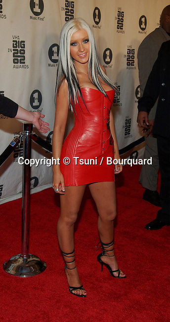 Christina Aguilera arrives at the VH1 Big in 2002 Awards held at the Grand Olympic Auditorium on December