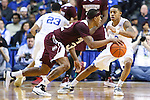 Guard Tyler Ulis of the Kentucky Wildcats guards Craig Sword during the game against the Mississippi State Bulldogs at Rupp Arena on January 20, 2015 in Lexington, Kentucky. Photo by Taylor Pence