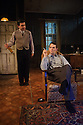 KENNY MORGAN, by Mike Poulton, opens at the Arcola Theatre. Directed by Lucy Bailey with design by Robert Innes Hopkins, and lighting design by Jack Knowles. Picture shows: Pierro Niel-Mee (Alec Lennox), Paul Keating (Kenny Morgan)