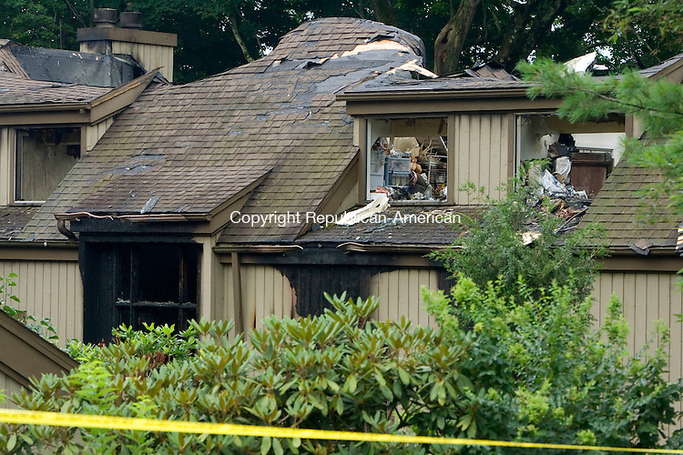 SOUTHBURY CT. 30 July 2015-073015SV01-A fire ripped through this unit at Heritage Village in Southbury Wednesday night into early Thursday.<br /> Steven Valenti Republican-American