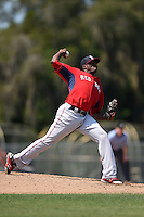 Boston Red Sox pitcher Jalen Williams (80) during a minor league spring training game against the Baltimore Orioles on March 20, 2015 at Buck O'Neil Complex in Sarasota, Florida.  (Mike Janes/Four Seam Images)