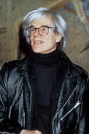 New York, 1975. Andy Warhol, the master of undergroung movies and pop art, seen at the Museum of Modern Art (MoMA).