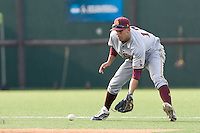 Arizona State Sun Devil shortstop Deven Marrero #17 prepares to field a grounder against the Texas Longhorns in NCAA Tournament Super Regional baseball on June 10, 2011 at Disch Falk Field in Austin, Texas. (Photo by Andrew Woolley / Four Seam Images)
