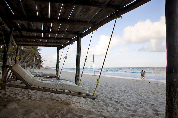 Beach swings.