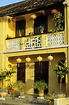 Ochre Building 01 - Traditional house on Bach Dang St, early morning, Hoi An, Viet Nam