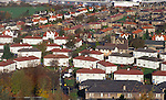 Council housing estate in Dundee, Scotland