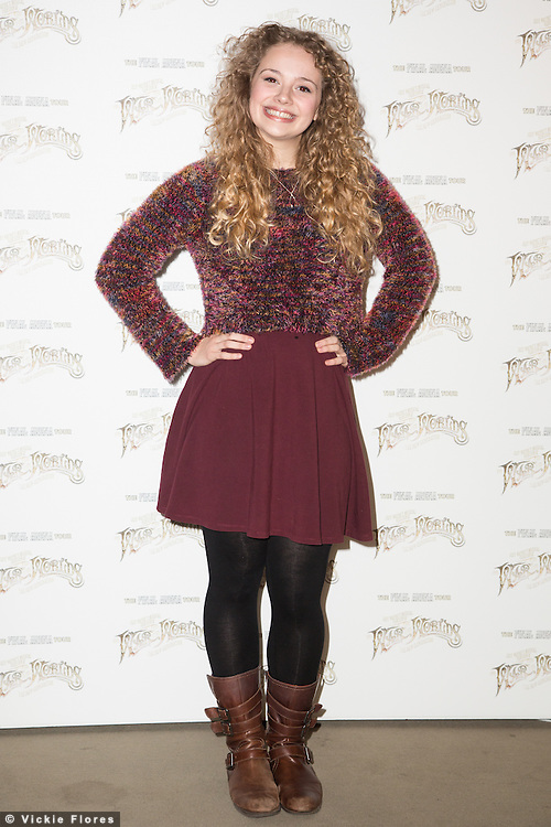 Carrie Hope Fletcher, The War of the Worlds, musical adaptation by Jeff Wayne photocall, The Hospital Club, London UK, 28 February 2014, Photo by Vickie Flores.