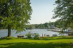 Essex village park and South Cove, Connecticutt River.