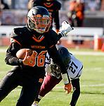 WATERTOWN, CT-112317JS05- Watertown's Adam Alenckis (36) run in for a touchdown during their Thanksgiving Day game against Torrington Thursday at Watertown High School. <br /> Jim Shannon Republican-American