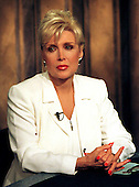"""Washington, DC - June 15,1998 -- Gennifer Flowers is interviewed on the CNBC program """"Hardball with Chris Matthews"""".Credit: Ron Sachs / CNP (RESTRICTION: NO New York or New Jersey Newspapers or newspapers within a 75 mile radius of New York City)"""